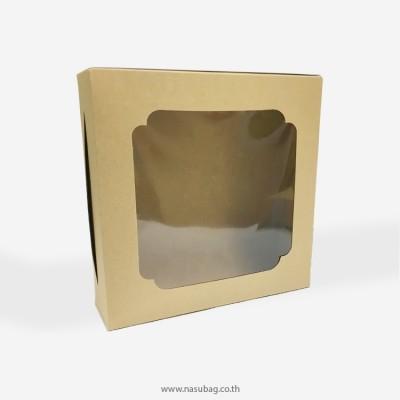 กล่องเค้ก 1 ปอนด์ทรงเตี้ยกระดาษคราฟ 0104007