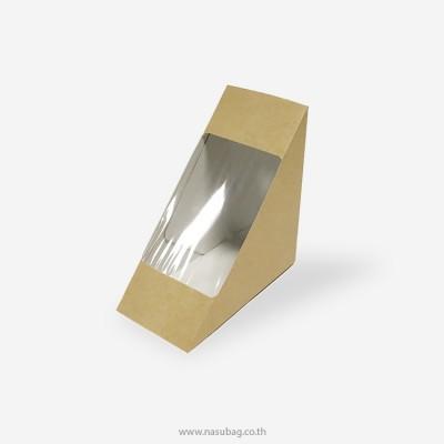 กล่องแซนวิชกระดาษคราฟ/ขาวไซส์ใหญ่ 0816002