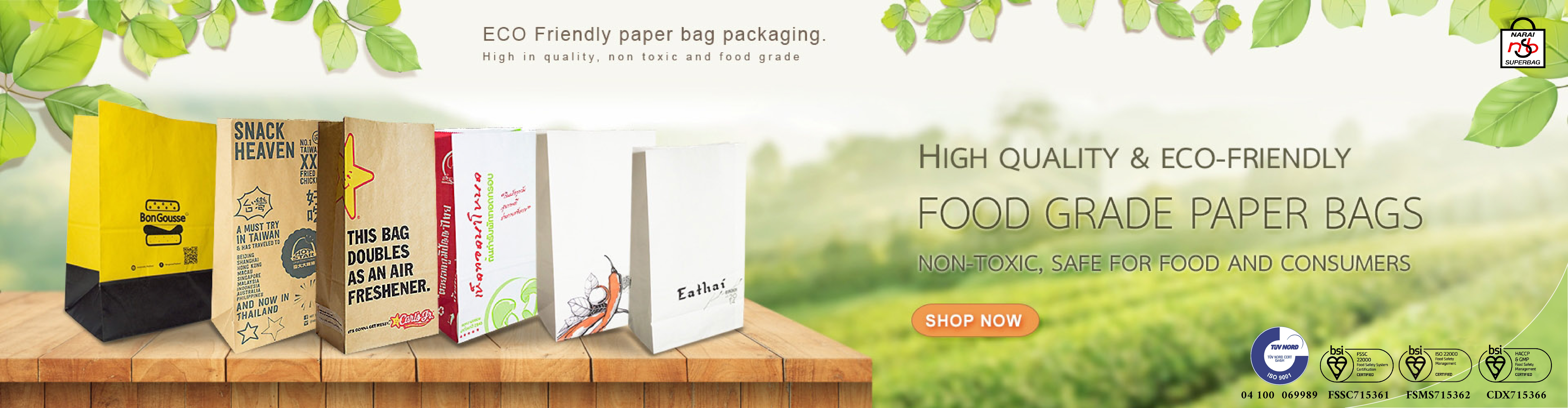 Food grade paper bag, Wrapping paper